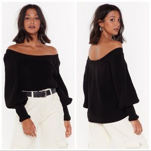Nasty Gal Off the Radar Off-the-Shoulder Sweater